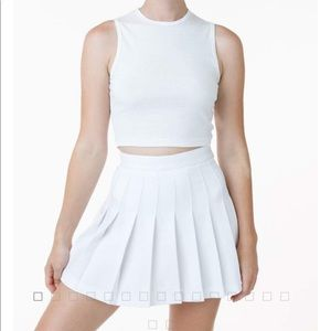 American apparel tennis skirt in white